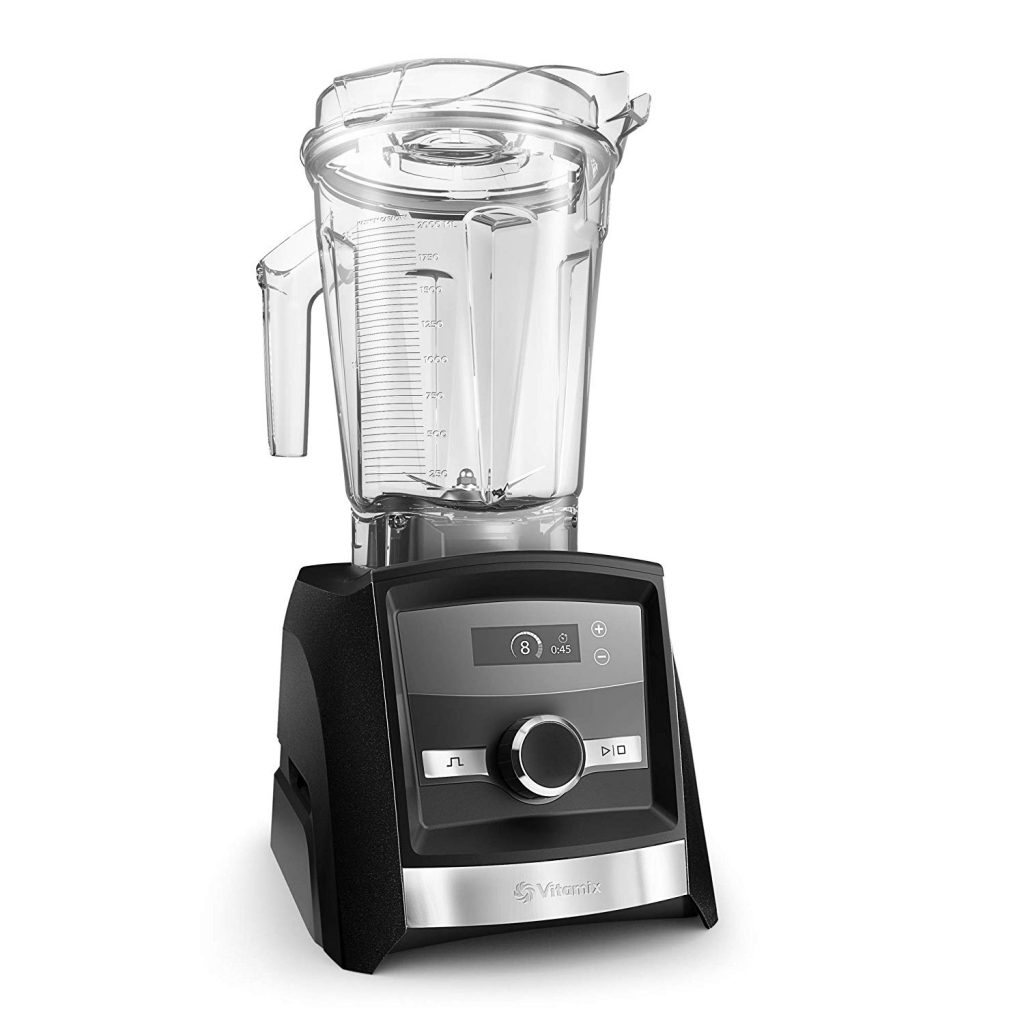 Professional Grade 64 ounce Vitamix A3300 Ascent Series Smart Blender, showing how to clean cloudy vitamix container