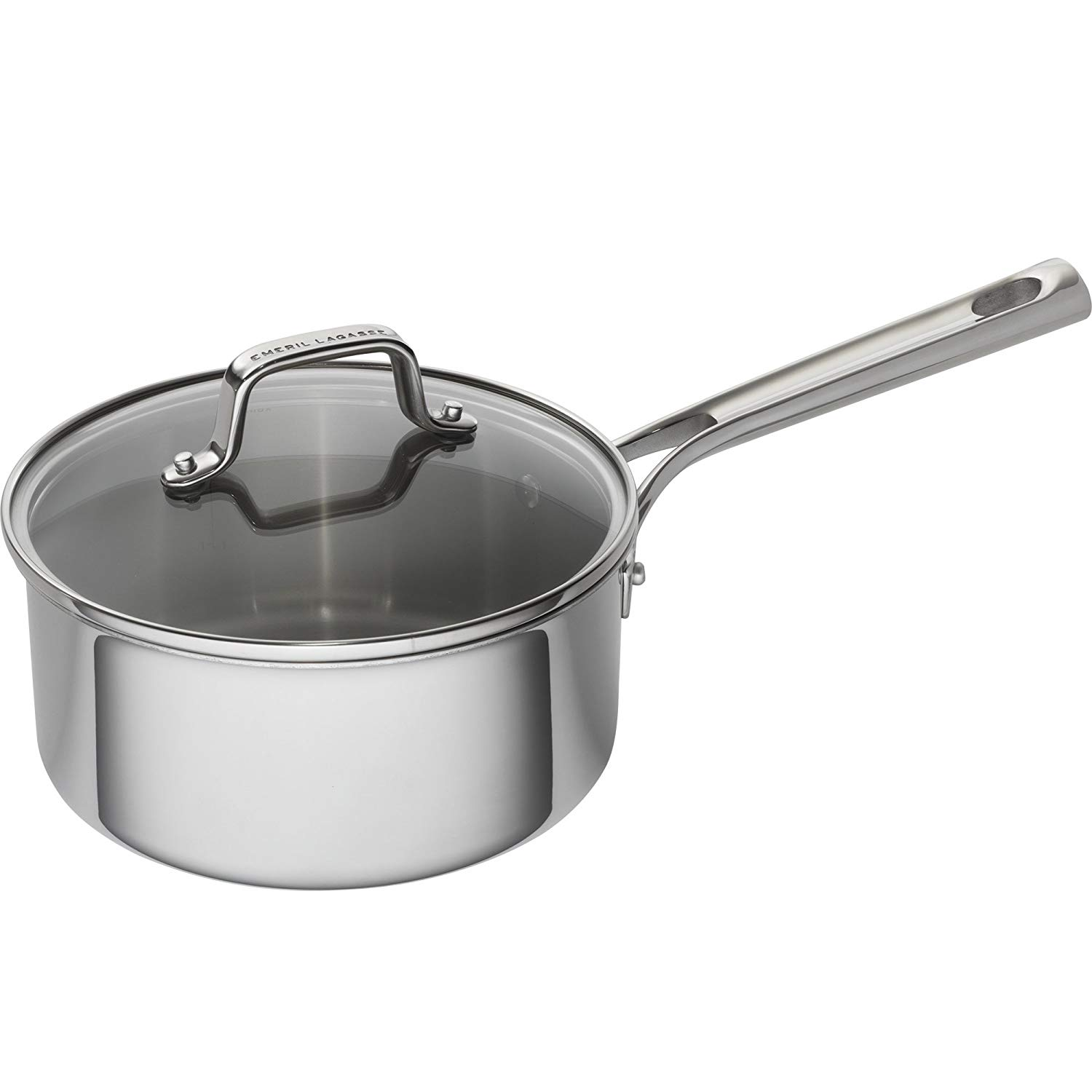 Stainless steel non -stick saucepan for induction hob