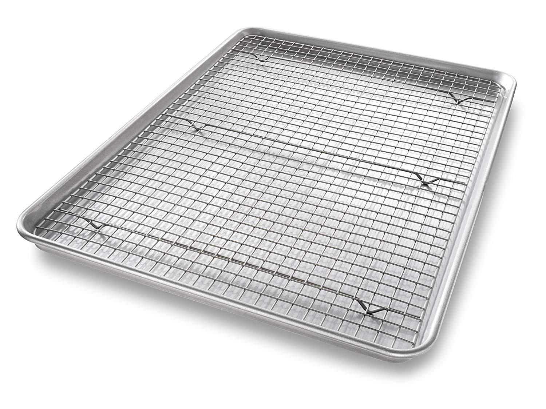 Extra large Sheet Baking Pan, Non stick Rack as best baking sheet for roasting vegetables