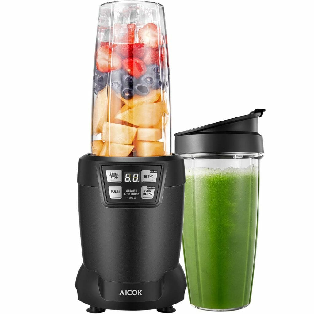Aicok smoothie Blender with 6 blades for shakes