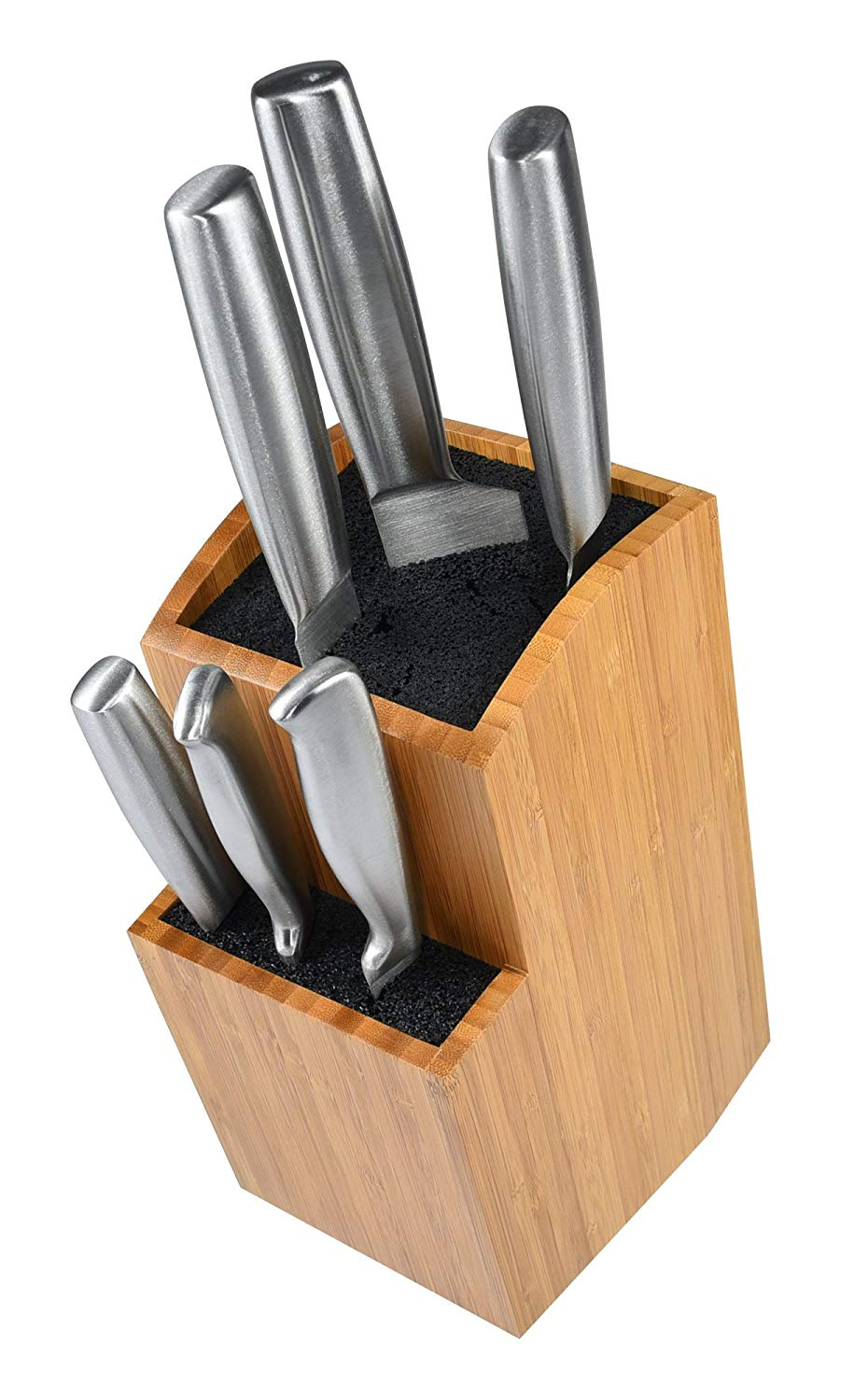 Tiered slotless knife organizer