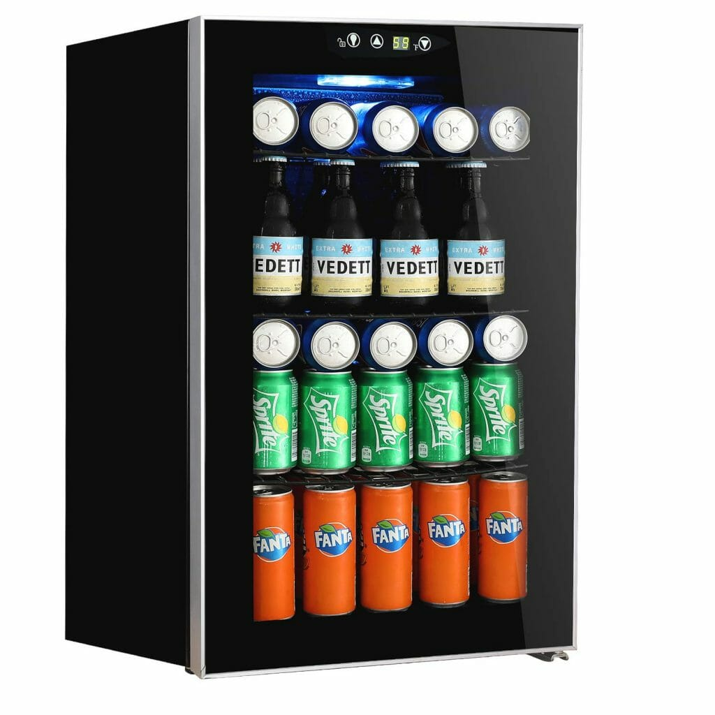 Beverage refrigerator and cooler with 60 Bottles capacity