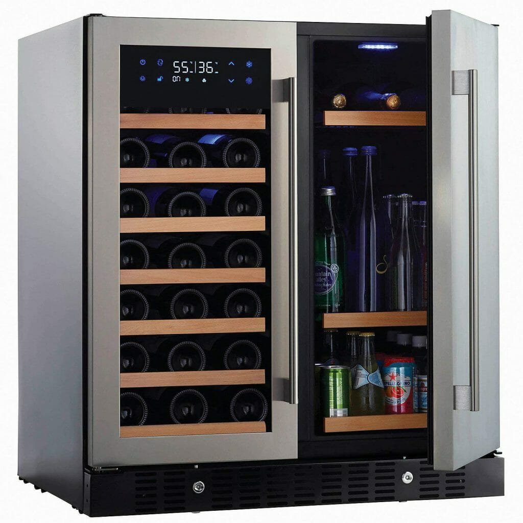 Built in wine and beverage refrigerator by N'finity