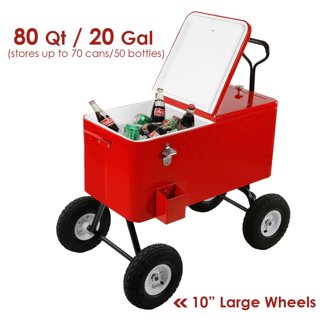 Clevr party wagon rolling cooler for beach