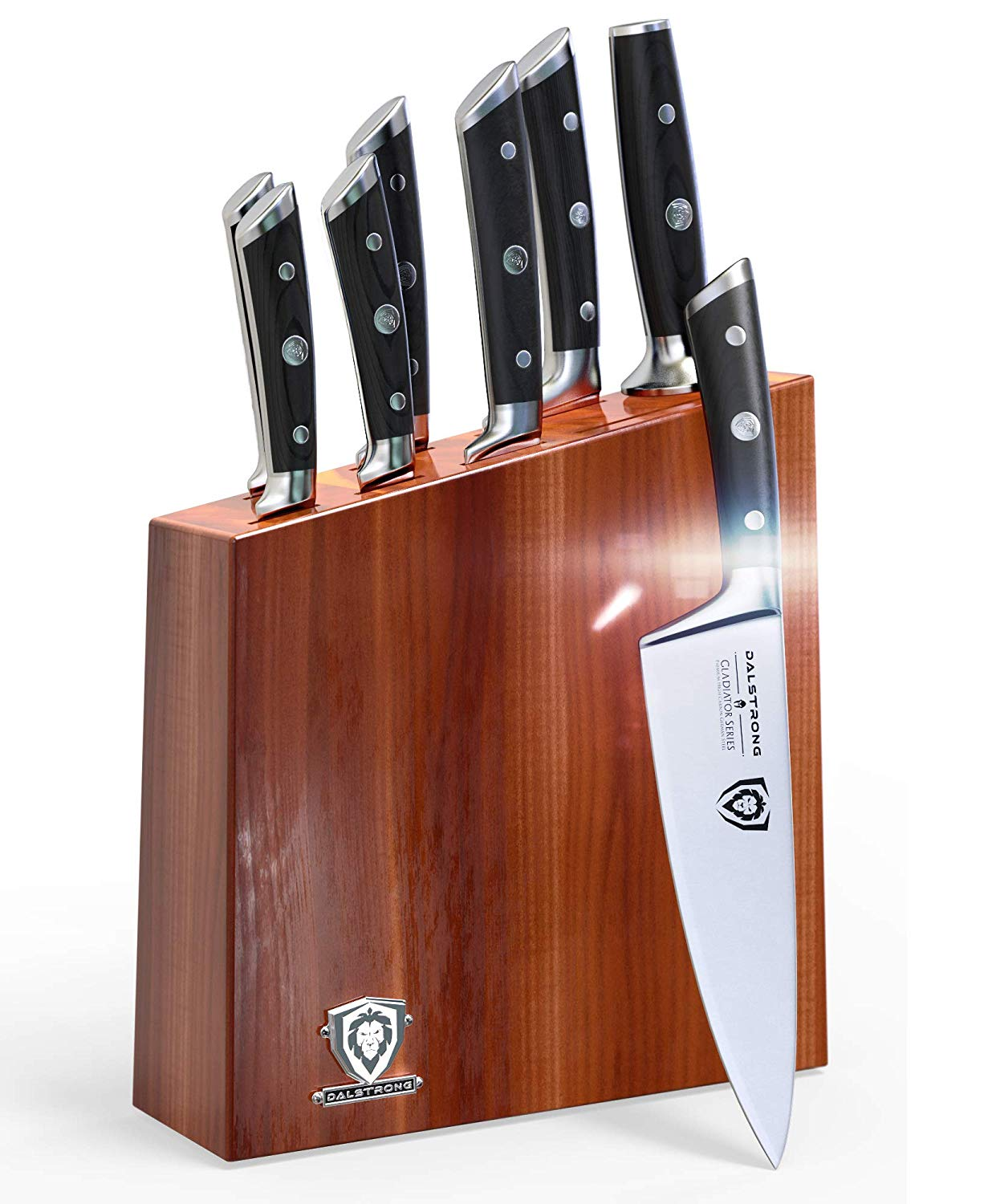 Dalstrong design, as one of the 10 best bamboo wooden knife block set and organizer