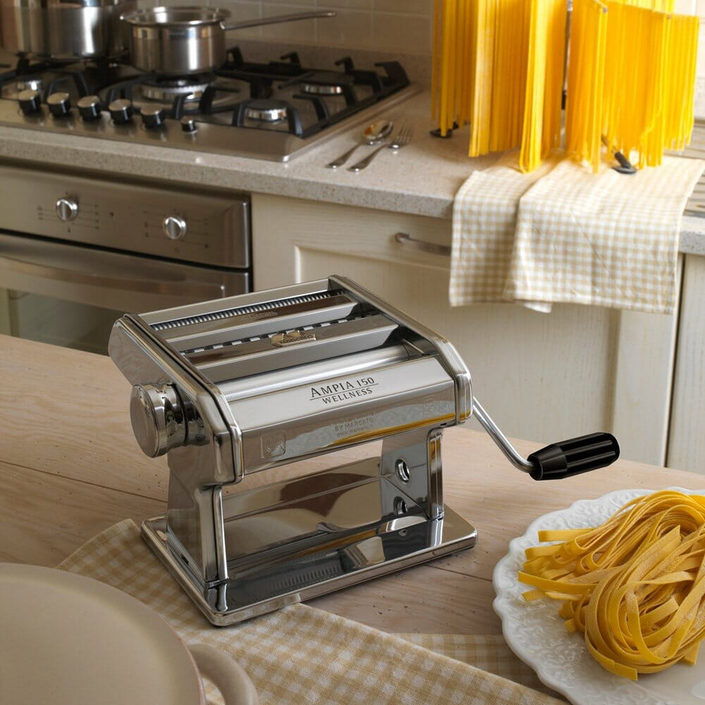 marcato pasta maker in the kitchen