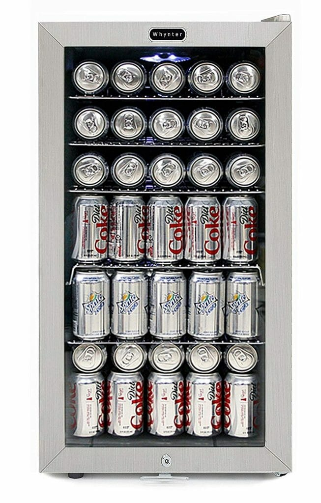 Stainless Steel Beverage Refrigerator designed by Whynter