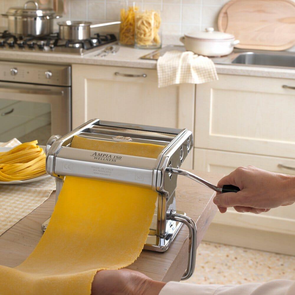 Sample of hand cranked marcato pasta maker