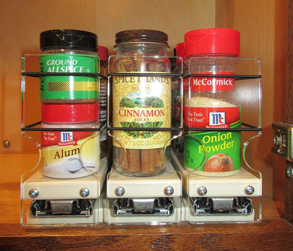 3 drawers vertical spice rack for cabinet
