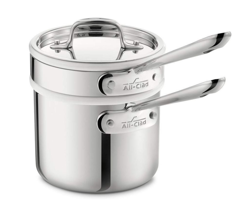 All clad stainless steel dishwasher sauce pan for melting chocolate double boiler