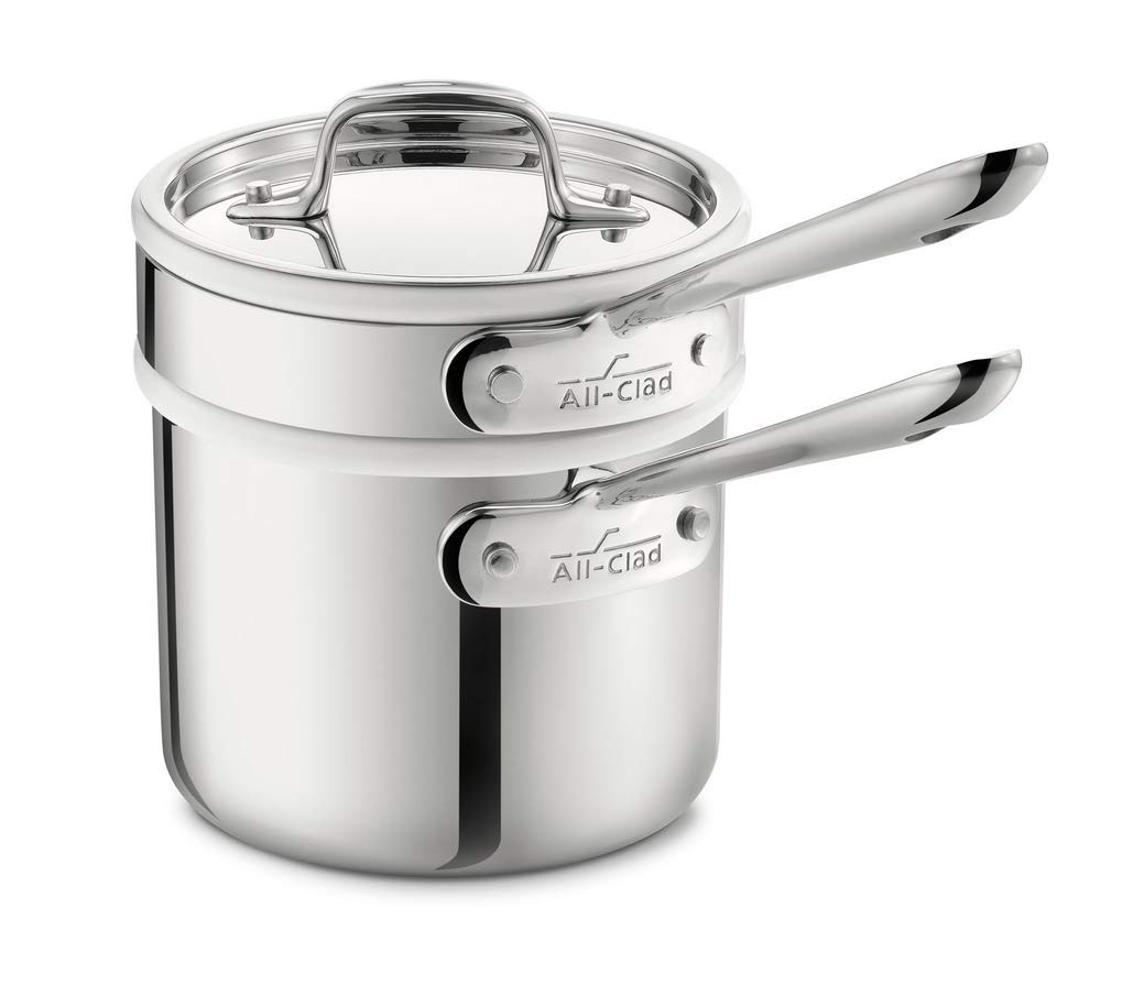 All clad stainless steel dishwasher sauce pan used for various purposes