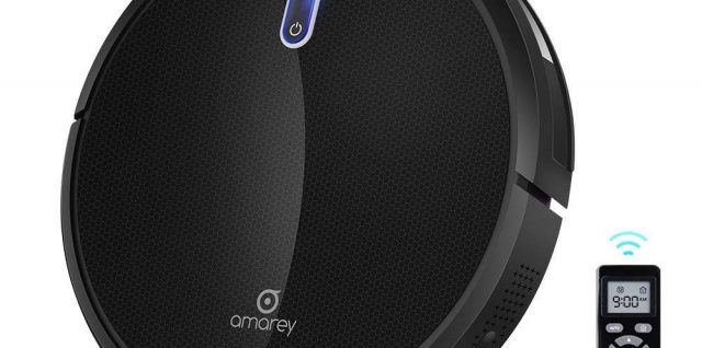 Amarey iRobot vacuum cleaner with high suction, less noise for carpets, hard floors and pet hairs
