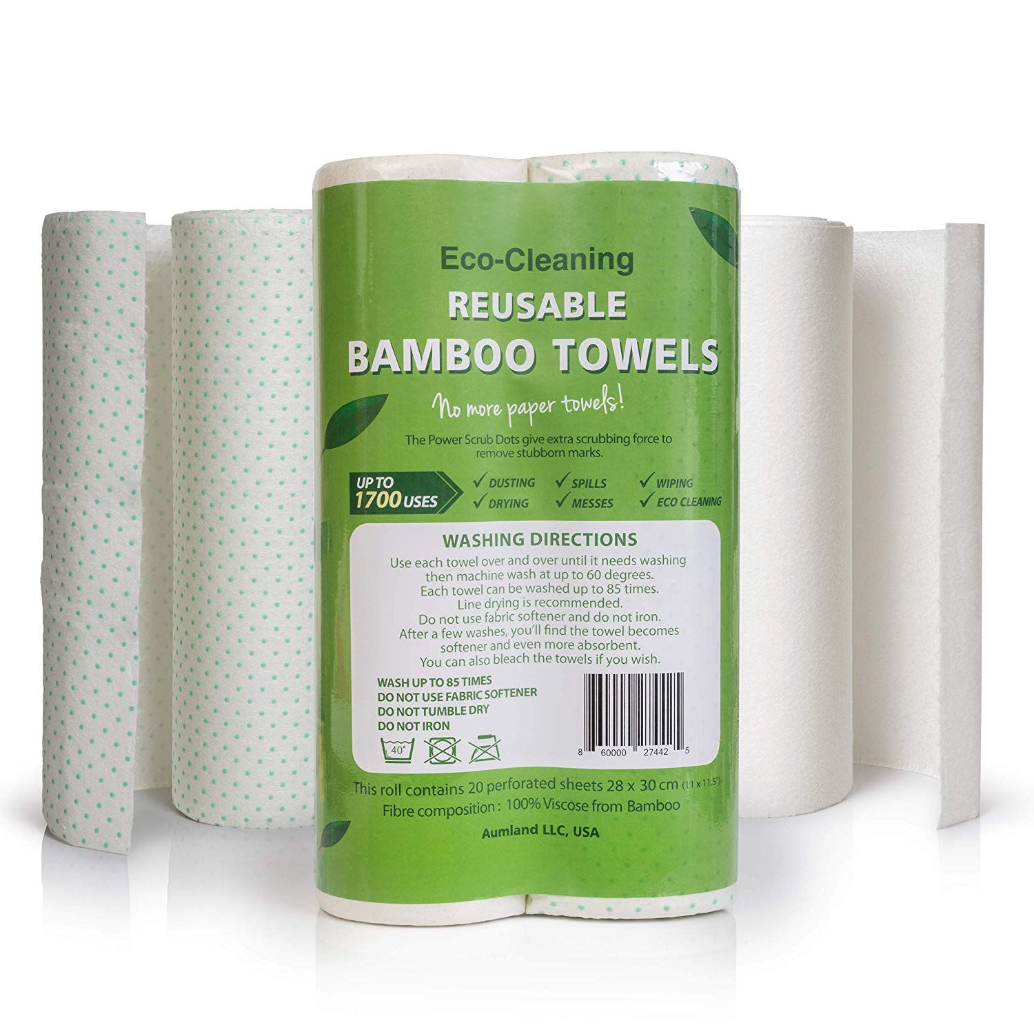 Bamboo reusable paper absorbent towels is the best paper towels for the money