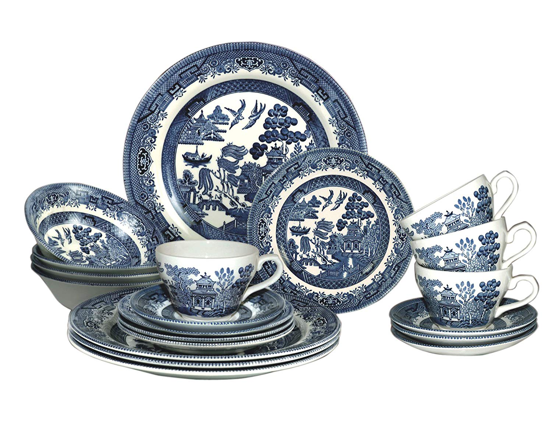 Churchill Blue China Dinnerware sets