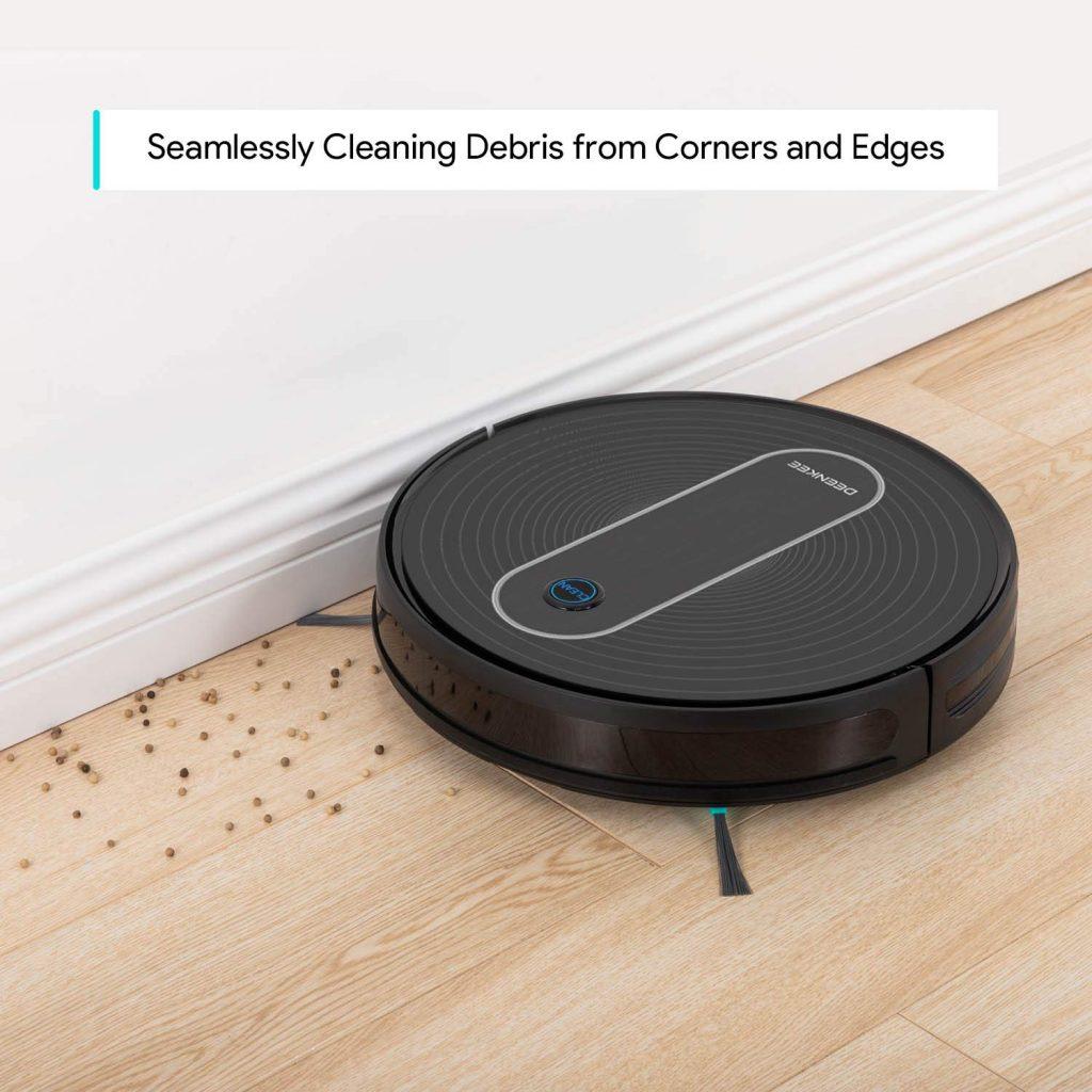 deenkee robot vacuum cleaning corners