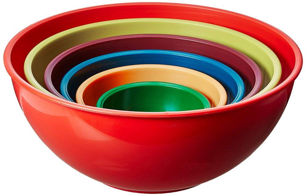 Gourmet mixing bowls, 6 sets
