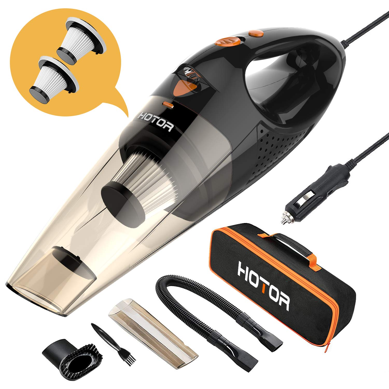 Hotor Car Vacuum cleaner with flexible hose