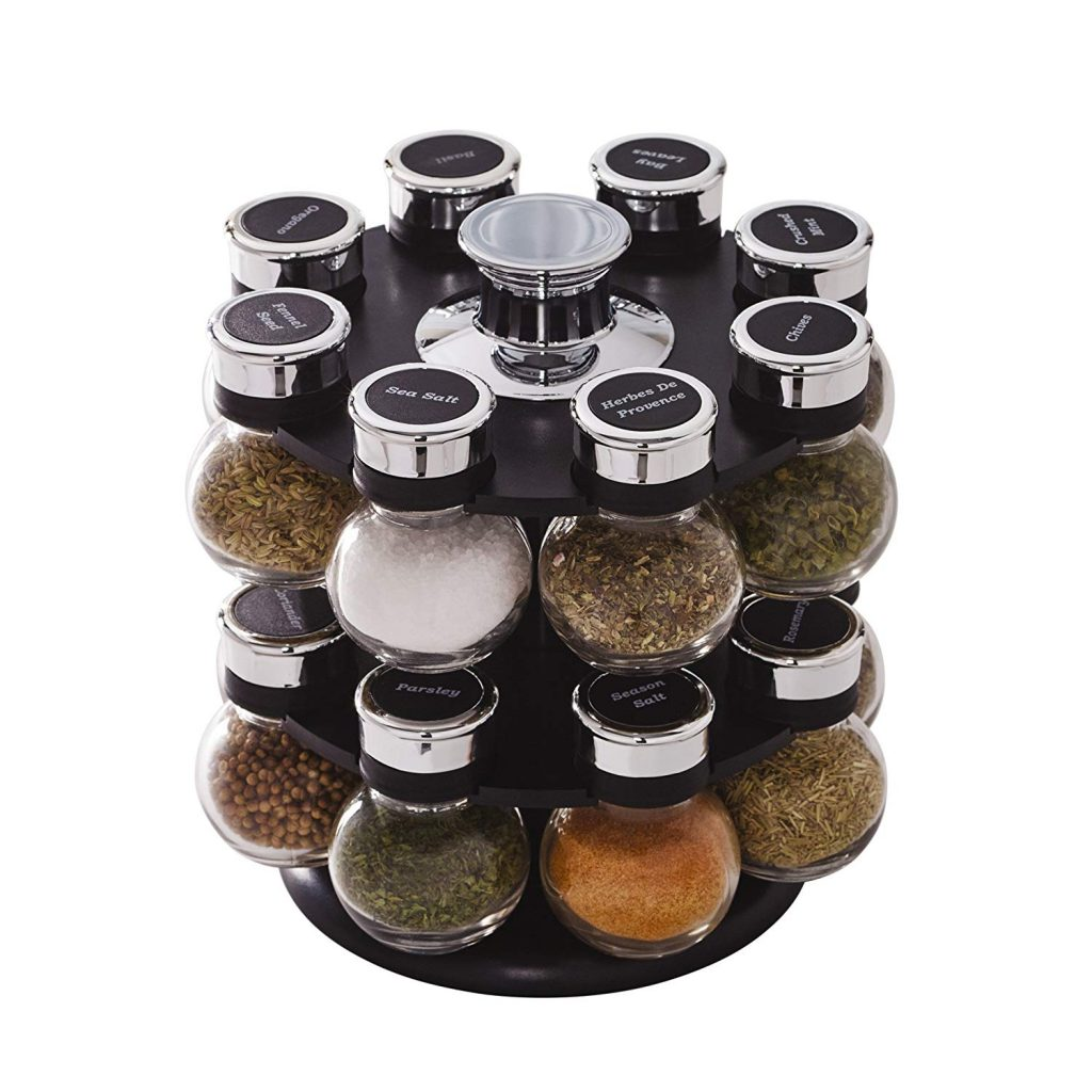 Kamenstein ellington 16 jar revolving countertop spice rack organizer