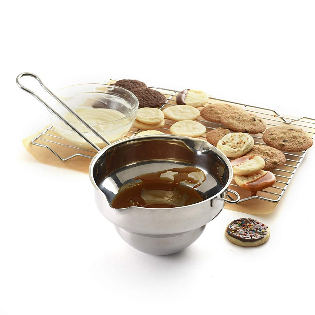 Norpro universal stainless steel small double boiler for melting chocolate