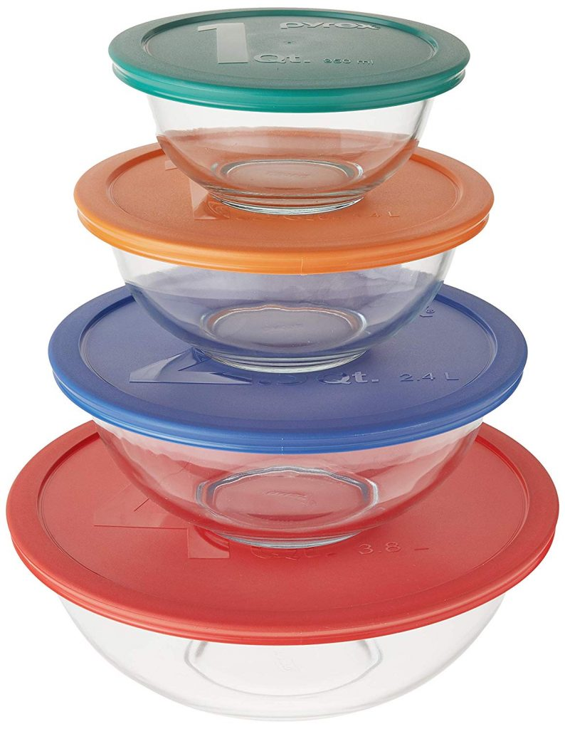 Pyrex smart essental mixing bowl with locking lids