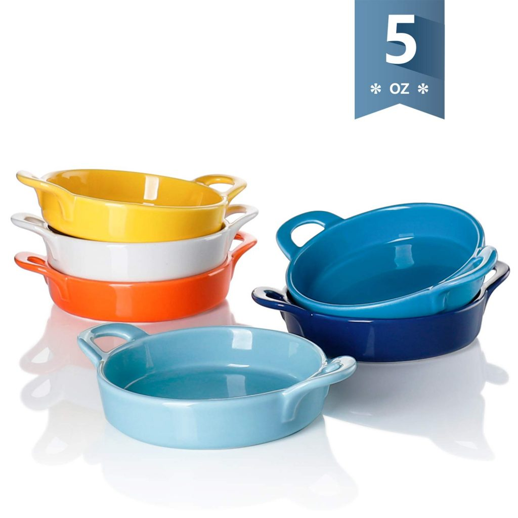 sweese porcelain ramekins for baking with double handle set