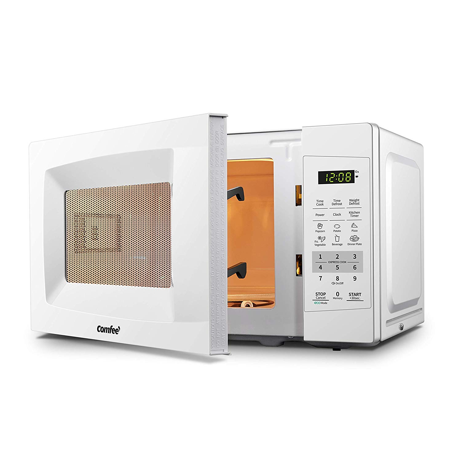 White comfee counter top microwave oven easy touch and eco friendly