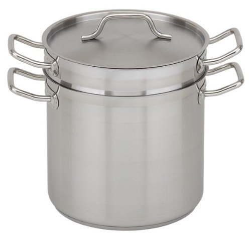 commercial stainless steel double boiler NSF certified