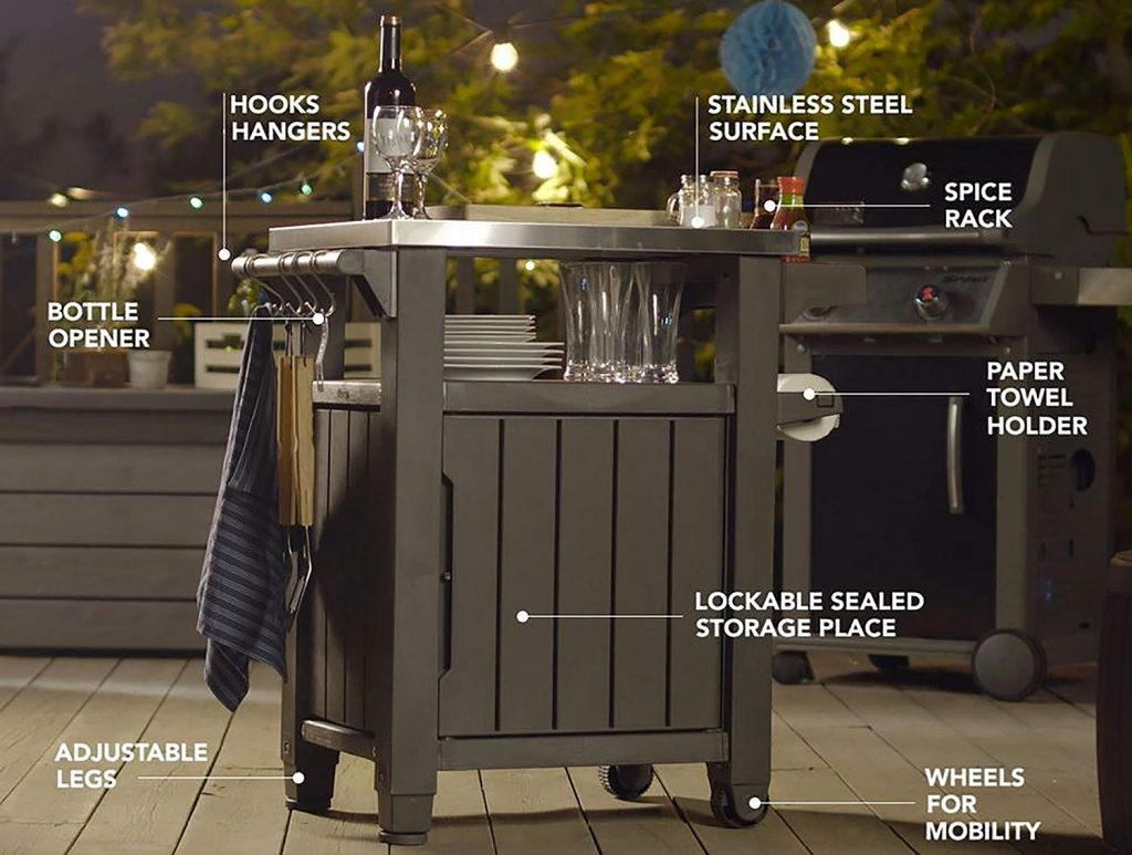 Description of the keter barbecue station