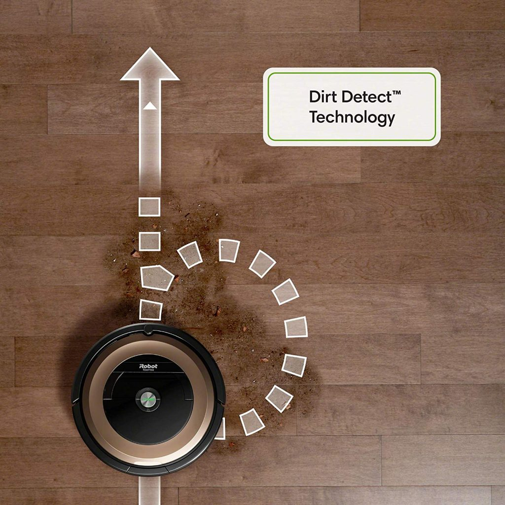 iRobot 890 Vacuum cleaner with high dirt detecting technology