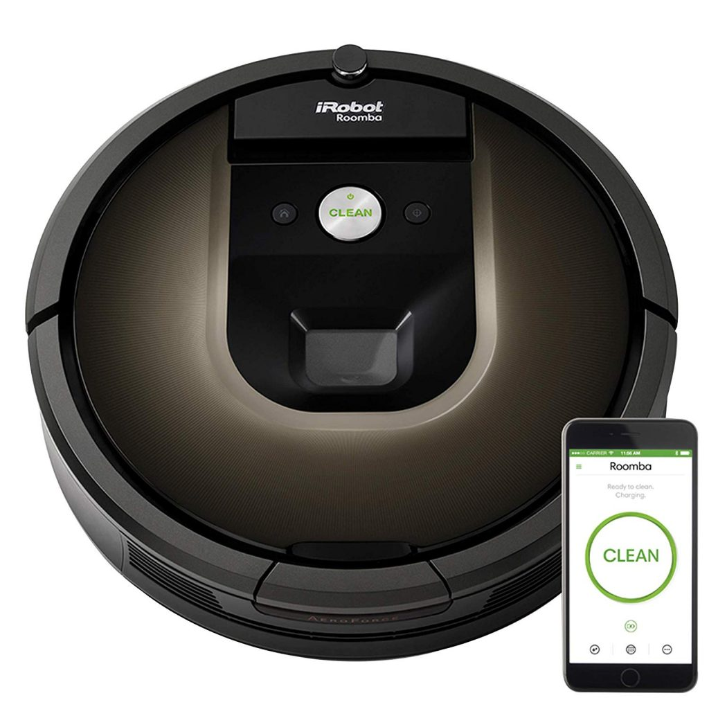 iRobot 980 vacuum cleaner with wi- fi and alexa voice