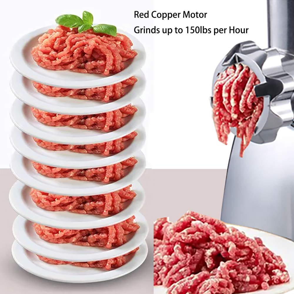 Sample of sunmile meat grinder stainless steel cutting plates interior 3pcs