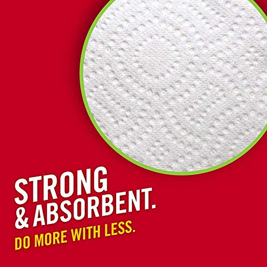 Strong and absorbent brawny paper towel