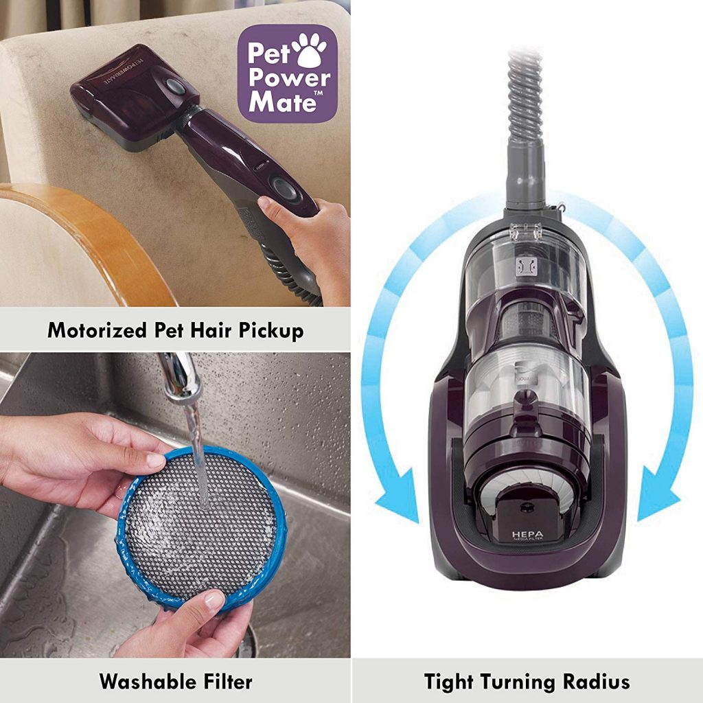 Sample of picture showing the functions of the kenmore bagless vacuum cleaner