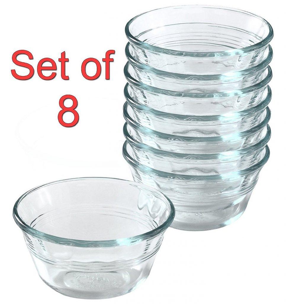 Pyrex bakeware custard cup