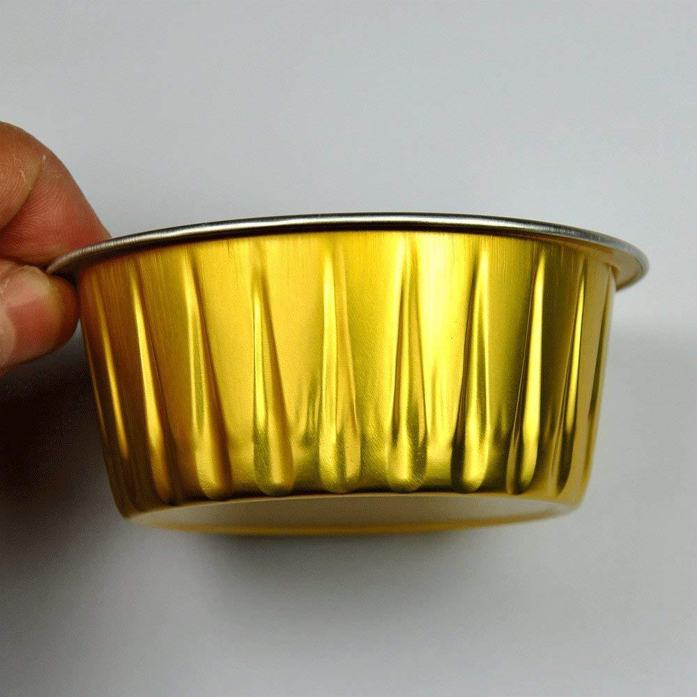 golden aluminum foil cup for cupcake baking