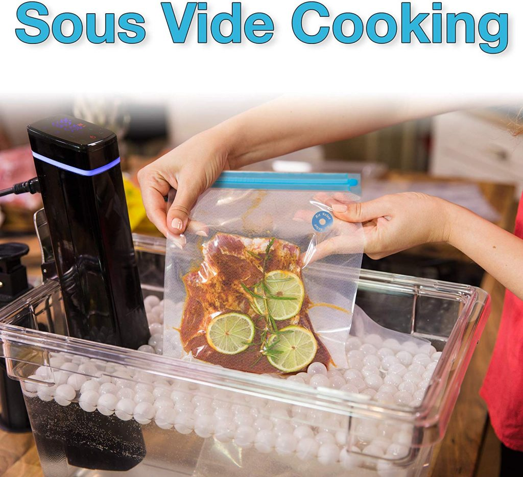 Best Ziploc bags for sous vide -Reusable food saver storage bag