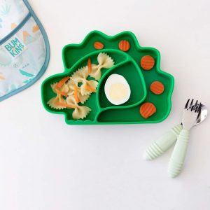 Bumkins silicone toddler plates that stick to table