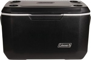 Coleman Extreme Cooler that can keep ice for 5 days and for camping and outdoor activities.