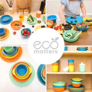 Eco Bamboo Microwavable Toddler Bowls