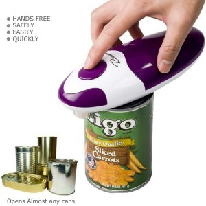 Bangui smooth edge electric can opener with one button start