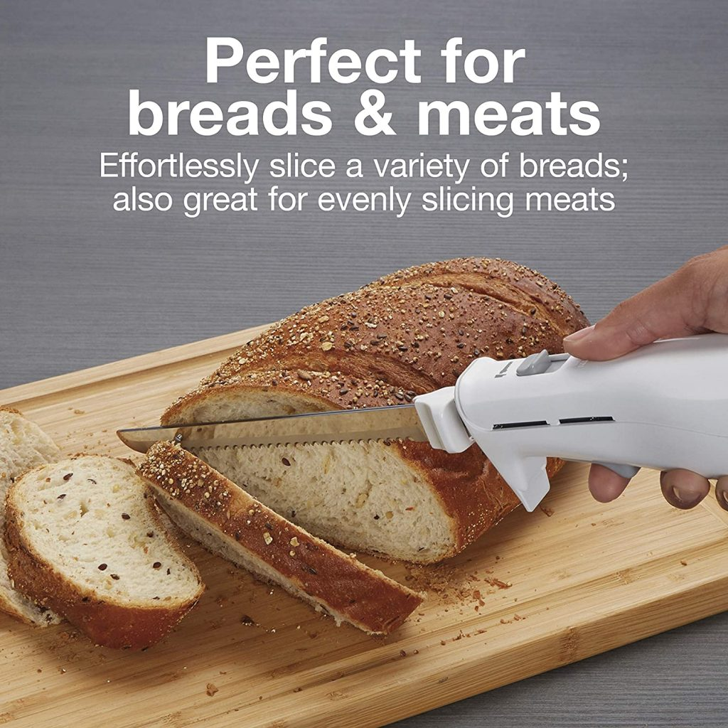 Knife for slicing bread and carving meat