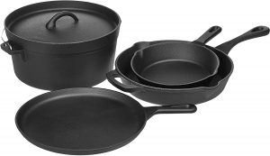Pre-Seasoned Cast Iron Pots and Pans a differnce from ceramic vs aluminum pan