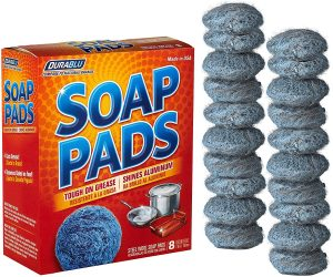 Soap pads metal scouring cook-top cleaning pads