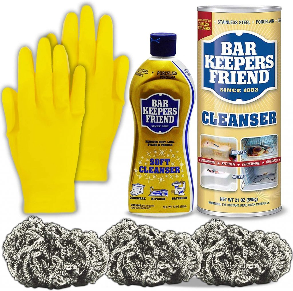 BarKeeper's Friend Pack Kit for Cleaning stainless steel cookware