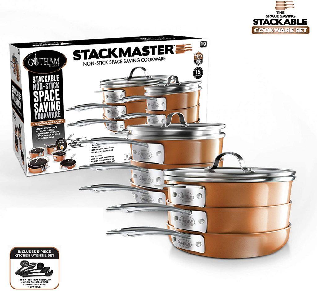 Gotham stackable pots and Pan set