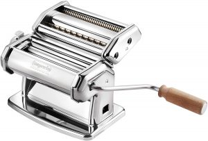 Buy this Imperial Pasta Maker Machine with wooden handle, buy on Amazon.