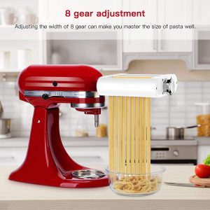 Pasta Machine Roller by KitchenAid and cutter adjustments
