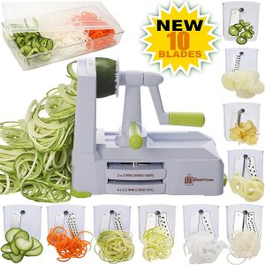 what appliance to use for chopping zucchini - brieftons vegetable spiralizer