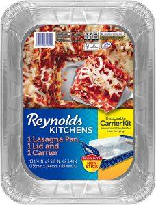 Disposable Aluminum Lasagna Pan with Carrier