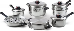 Durable Waterless Stainless steel cookware set